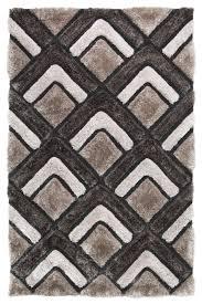 shaggy rug super soft noble house hand tufted 3d chevron home