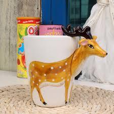 3d stereoscopic ceramic hand painted porcelain animal mug u2013 ifancee