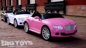 pink bentley 12v toddler bentley gt ride on power wheel with rc remote youtube