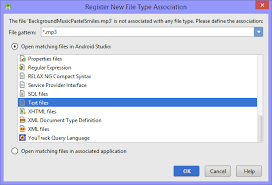 android pattern matching android how to register new file type association with mp3 stack