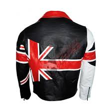 motorbike coats usa flag motorcycle style leather jacket