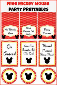 mickey mouse clubhouse birthday party food labels by neatcardsinc