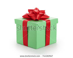 green gift bow green gift box ribbon bow stock photo 744182947