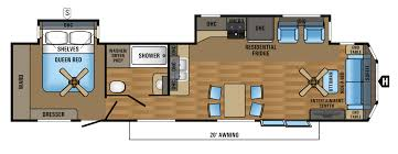Floor Plans And Prices 2017 Jay Flight Bungalow Travel Trailer Floorplans U0026 Prices