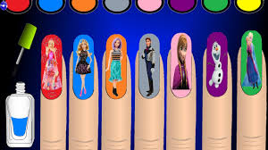 learn colors nail art desing colours for children coloring pages