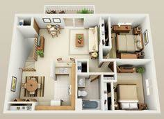 Two Bedroom Houses 50 Two