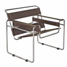 Leather And Chrome Chairs Wassily Leather And Chromed Steel Chairs At Brookstone U2014buy Now