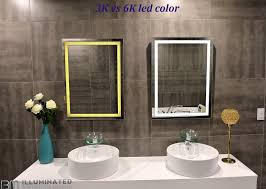 dimmable lighted mirror harmony 40 x 24 u2013 ib mirror