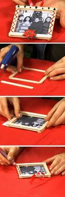 popsicle stick sled ornament with photos craft for