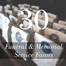 funeral and memorial service favors 30 unique ideas memorial