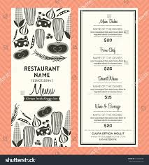 restaurant menu design template layout stock vector 214343332