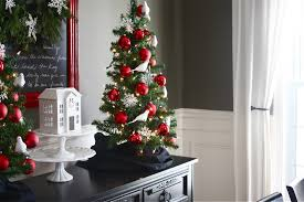 White Christmas Tree With Black Decorations The Yellow Cape Cod Holiday