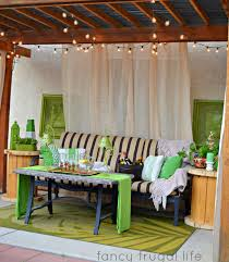 cabana u201d patio makeover with diy drop cloth curtains