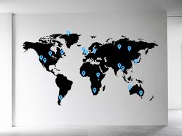 personalised world map wall sticker map of the world wall