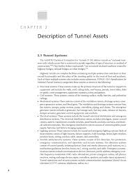chapter 2 description of tunnel assets guide for the