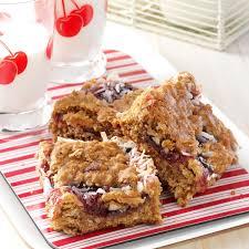 cherry oat bars recipe taste of home