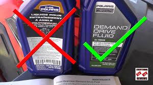 polaris sportsman front diff gearcase fluid change youtube