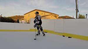 d1 backyard synthetic ice rink and dashers youtube