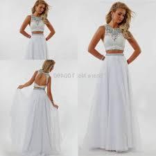 white 2 piece prom dresses naf dresses
