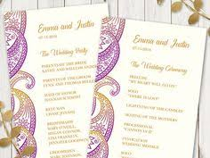 indian wedding program template wedding program template paisley teal gold diy printable