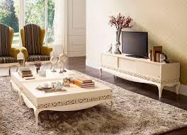 mueble de televisión de diseño nuevo barroco de madera luxus