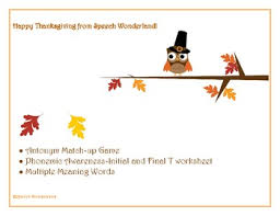 thanksgiving antonyms meaning words phonemic awareness t