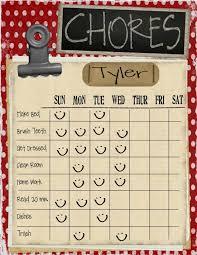 loads of printable chore charts free printables kid stuff