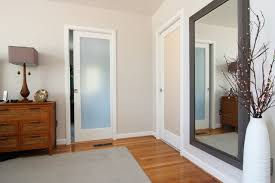 Pocket Closet Door Bath Closet With Frosted Glass Pocket Doors Traditional Interior