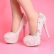 women pumps pink wedding dress shoes handmade platforms ultra high