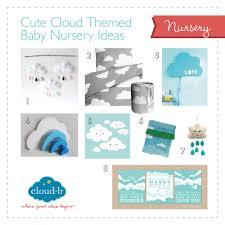 cloud themed baby nursery ideas cloud b