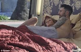 Wearing Underwear To Bed Maroon 5 U0027s Adam Levine And Victoria U0027s Secret Model Girlfriend