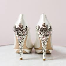 wedding shoes embellished heel harriet wilde bridgette pink cherry embellished heel platform