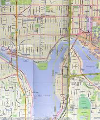 seattle map by district city map of seattle map of northwest u s a itm mapscompany
