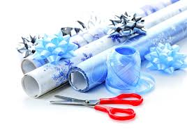 gift wrapping paper rolls christmas wrapping paper rolls stock photo image of isolated