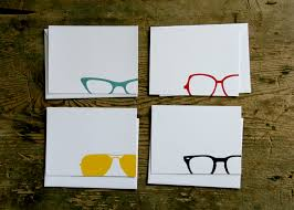 sold out eye wear flat cards bird ink