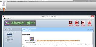 multiple offset autocad autodesk app store