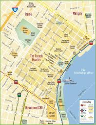 New Orleans Map Of Hotels by New Orleans French Quarter Map With Map French Quarter Map