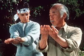 Mr Miyagi Meme - how insurance is like the karate kid harold s story insnerds com