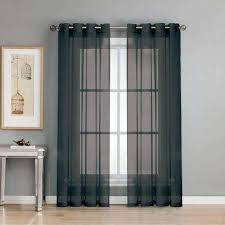 Black Gray Curtains Sheer Black Curtains Drapes Window Treatments The Home Depot