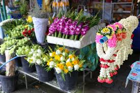 local flower shops garland for sell at local flower shop in ratchaburi