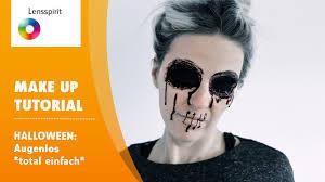 schmink tutorial augen komplett wegschminken halloween make up