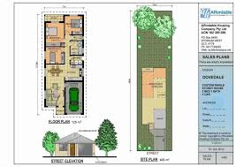 home plans narrow lot small house plans sqft mediterranean florida narrow lot one