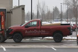 nissan titan vs dodge ram 2017 nissan titan regular cab spied undisguised on a forklift