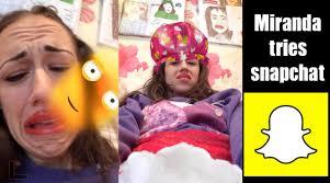 Challenge Miranda Sings Miranda Sings Tries Snapchat