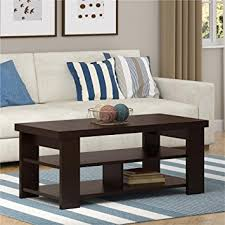 amazon com ameriwood home jensen coffee table espresso kitchen