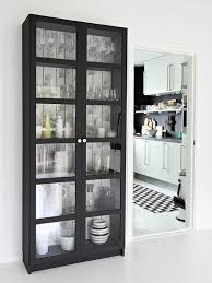 the ikea billy bookcase with doors great for small apartment