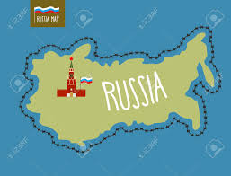 Map Russia Russia Map Russia Surrounded By Barbed Wire The Kremlin In