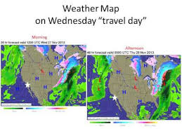 thanksgiving outlook for wednesday through friday with showers