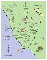 Tuscany Map Maps U2013 Page 5 U2013 Laura Hooper Calligraphy