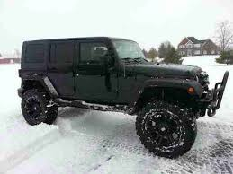 used 4 door jeep wrangler rubicon for sale sell used custom black 2007 jeep wrangler lifted 4 door 37 in